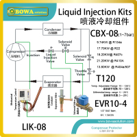 Liquid Injection Kits Are Used To Regulate The Temperature Of The Oil In A Screw Compressor