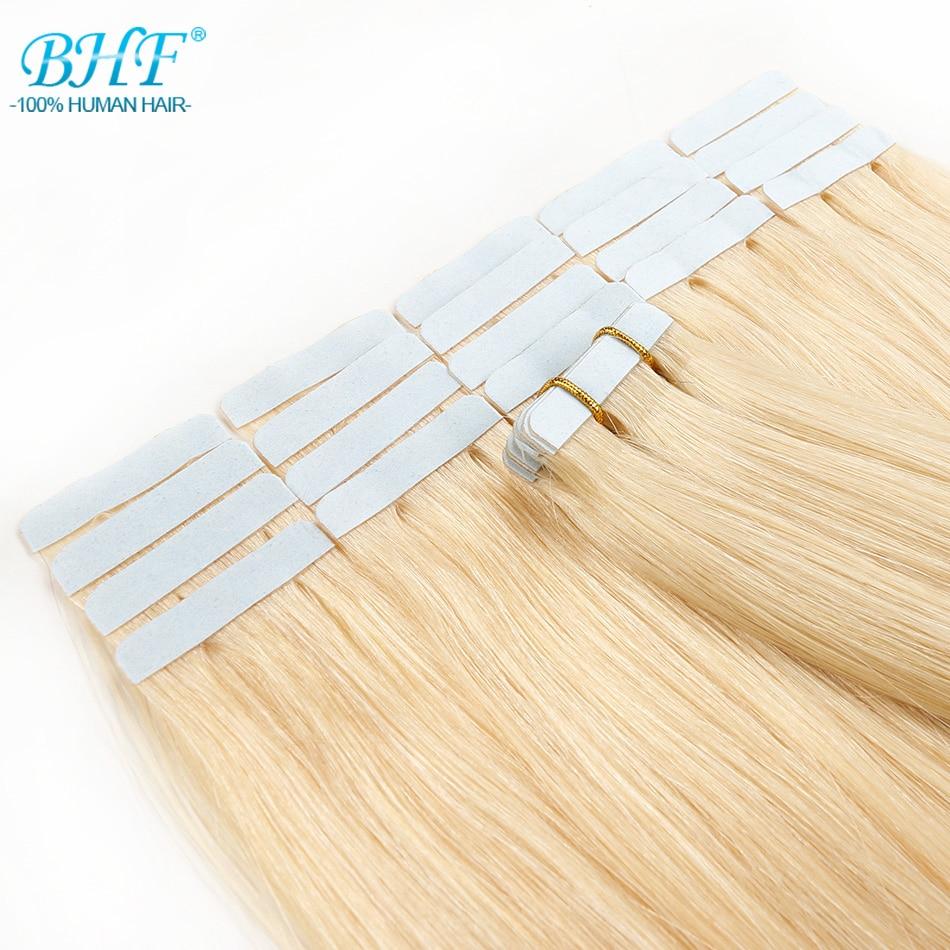 BHF-lint inimese juuste pikendustes Topelt tõmmatud lint - Inimeste juuksed (valge) - Foto 3