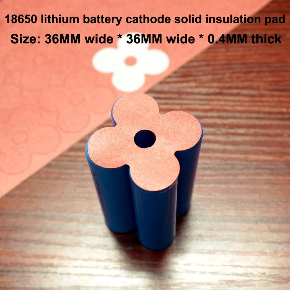 Купить с кэшбэком 100pcs/lot 18650 Universal Lithium Battery High-Temperature Insulation Gasket 4S 18650 Battery Insulation 4-Cell Surface Pad