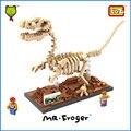Mr. froger serie de fósiles de dinosaurios velociraptor creador del bloque de diamante loz bloques de construcción juguetes clásicos modelos animales regalos de los niños