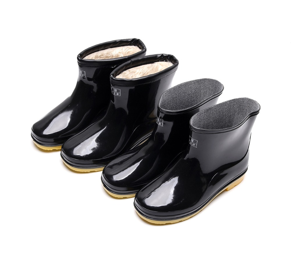 Aleafalling Men's Rain Boots Thicken Cover Waterproof Shoes Unisex Anti-skip Garden Kitchen Labor Shoes Car Washing Shoes 201965