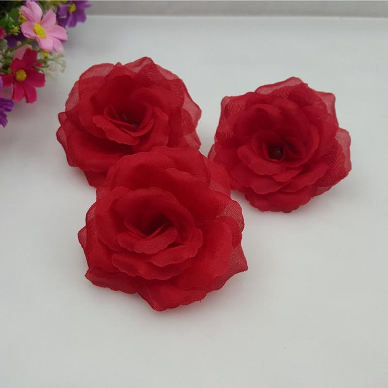 1 Stück 8 Cm Rote Rose Blume Kopf Silk Künstliche Blumen Für Hochzeit Party Dekoration Blume Diy Dekorative Kranz Gefälschte Blumen Fortgeschrittene Technologie üBernehmen