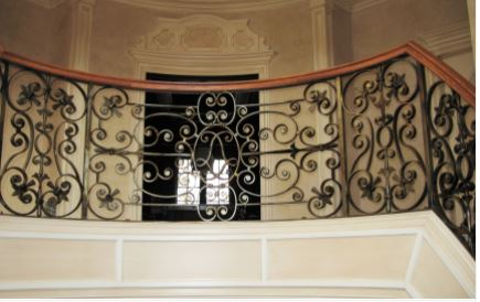 Hench 100% handmade forged custom designs outdoor iron railings for steps