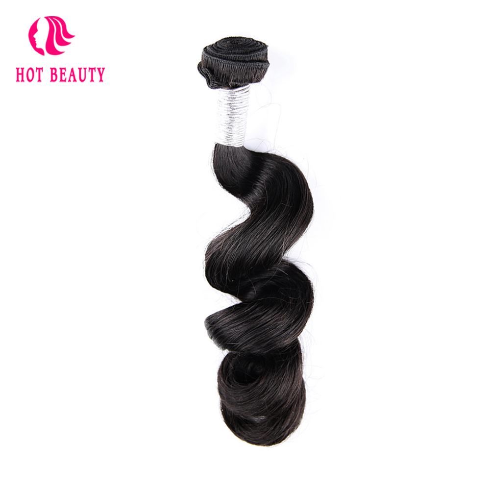 Hot Beauty Hair Brazilian Loose Wave Human Hair Weave Bundles 10-28 Inch 1 Piece 100% Remy Human Hair Extension Can Buy 3 4 Pcs