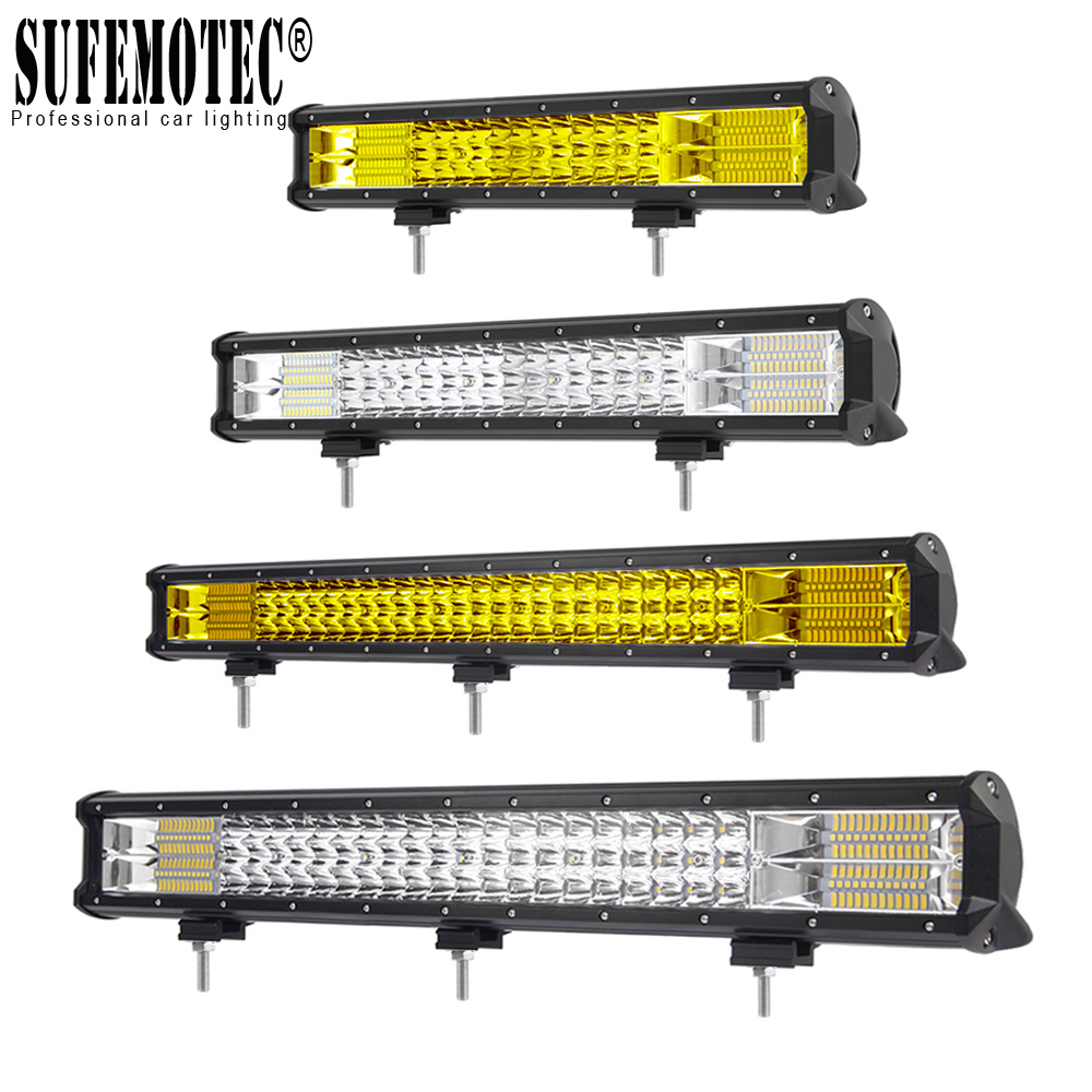 23 26 28 32 Inch 3 Row 12V 24V LED Bar For Boat Truck 4WD ATV UTV SUV 4x4 Offroad Work Light Combo Beam Amber Driving Lights pop relax korea jade massage bed electric heating jade stone spine relax massager health care full body rolling massage bed
