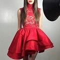 Класс выпускной платья короткий рукав возвращения на родину платье короткая красный возвращения на родину платья