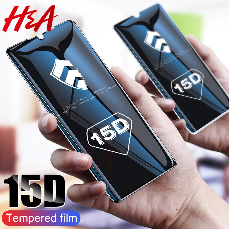 15D Full Cover Tempered Glass For Huawei P30 P10 P20 Lite Plus Protective Glass For Huawei P20 Mate 20 Lite Pro P Smart Glass