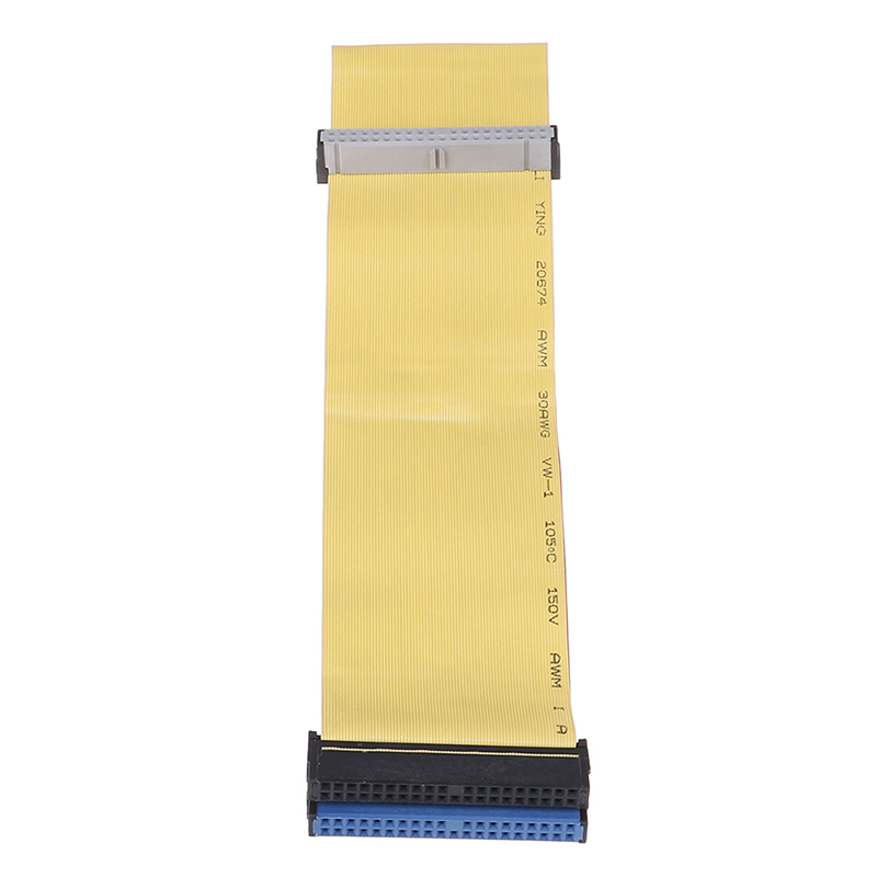 40 Pins 80 Wire PATA/EIDE/IDE Hard Drive DVD Ribbon Cable Yellow 40cm For Dual Devices Telecom Parts