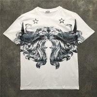 New Novelty 2019 Men Star sketch beauty T Shirts T Shirt Hip Hop Skateboard Street Cotton T Shirts Tee Top kenye S XXL #K37