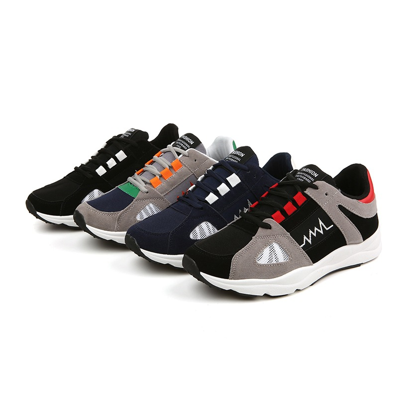 Man Run Shoes For Men Leather Net Flat Shoes Excellent Quality Breathable Men Sports Shoes Travel Brand Running Shoes