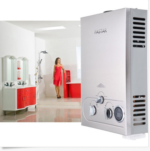(EU NO TAX) Rushed 12l Lpg Propane Gas Hot Water Tankless Instant Boiler Stainless Lcd Ce Approved