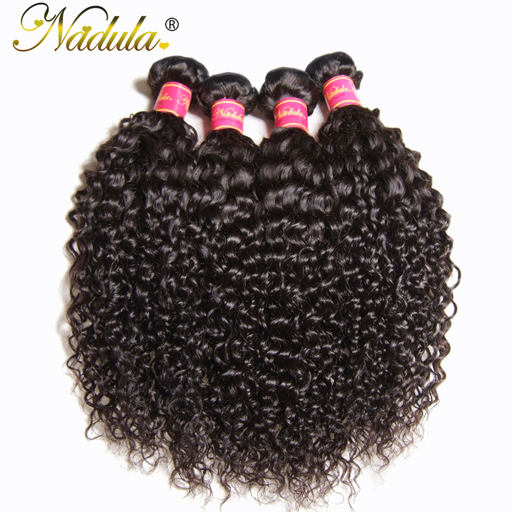Nadula Hair 8-26inch Indian Curly Hair 100% Human Hair Bundles Machine Double Weft Non Remy Hair Weaves 1Piece Can Be Dyed