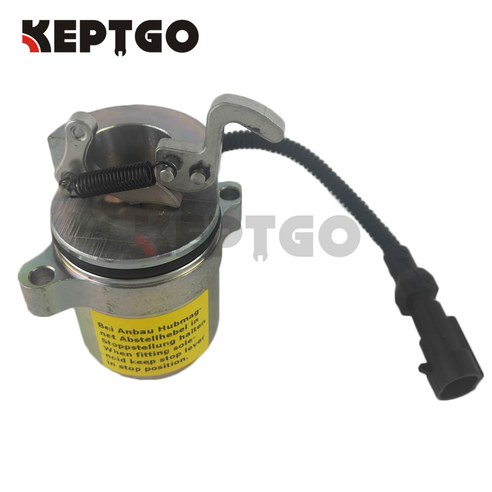 Fuel ShutOff Solenoid For Bobcat 863 864 873 883 Skid Steer Deutz 04272956 12V new turbo for deutz bf4m1011f turbocharger with gasket bobcat 863