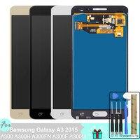 Регулировка подсветки TFT LCD для Samsung Galaxy A3 2015 A300 A300H A300FN A300F A300M кодирующий преобразователь сенсорного экрана в сборе