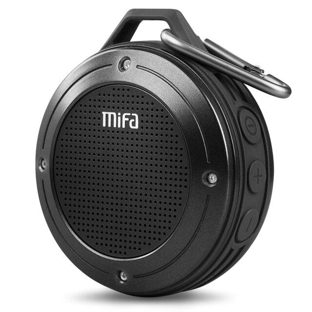 MIFA ลำโพงบลูทูธแบบพกพา Shock ความต้านทาน IPX6 กันน้ำลำโพงไร้สายบลูทูธ 4.0 TF Card ไมโครโฟนในตัว