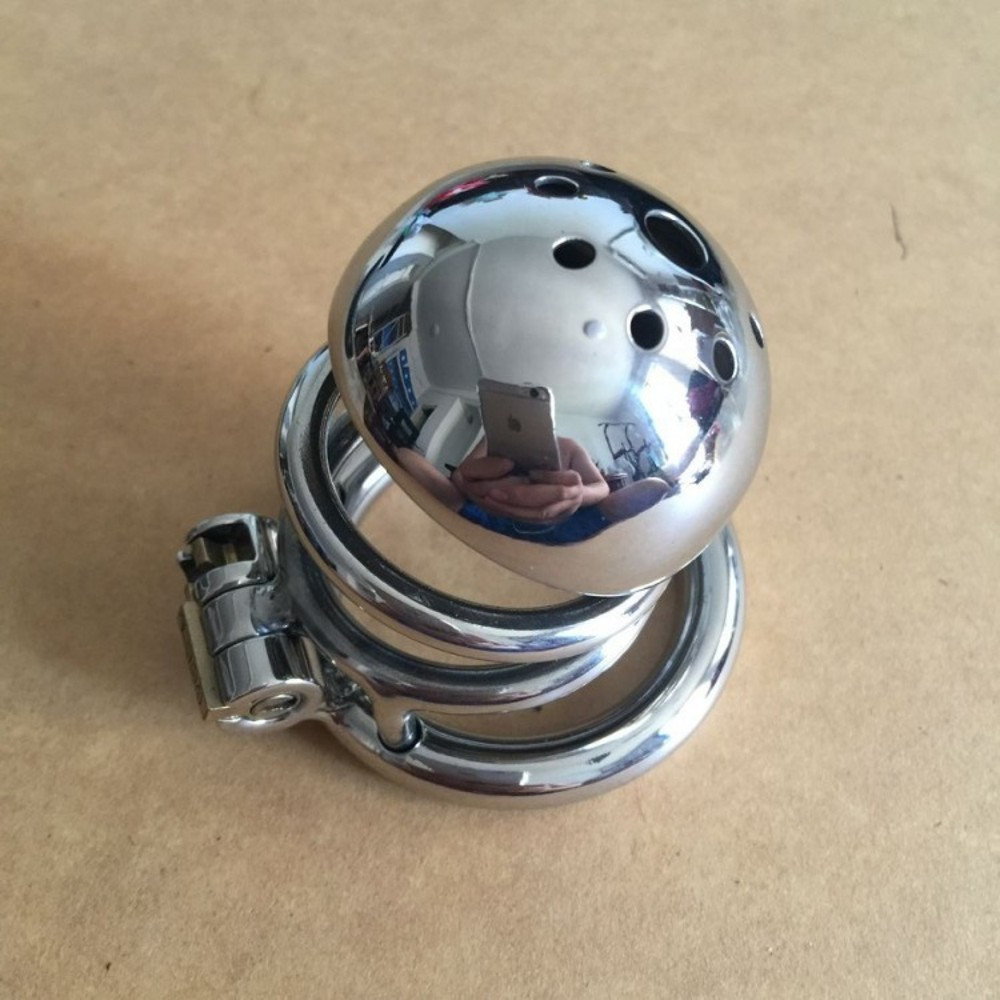 ФОТО Mirror Polished male chastity device Stainless steel cock cage Penis Rings sex toys for men 40mm /45mm/50mm (optional) S029