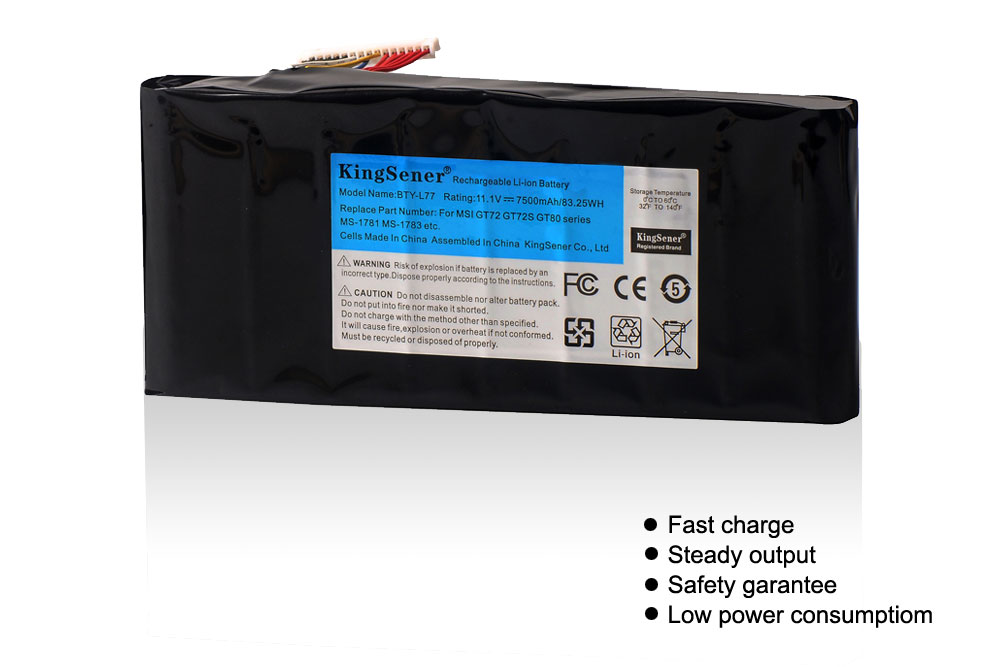 Image 2 - KingSener BTY L77 Laptop Battery For MSI GT72 2QD GT72S 6QF GT80 2QE GT80S WT72 MS 1781 MS 1783 2PE 022CN 2QD 1019XCN 2QD 292XCN-in Laptop Batteries from Computer & Office