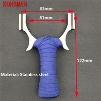 Starke 304 edelstahl traditionellen schleuder outdoor flache gummiband hochwertigen katapult