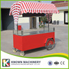 Ice Cream Trolley Hand Push Mobile Food Carts Trailer Ice Cream Truck Snack Food Carts Customized