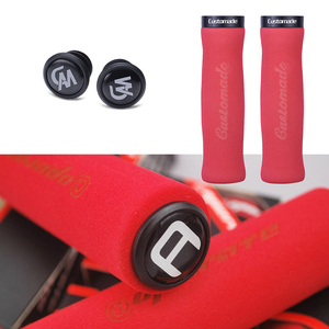 1 пара велосипедных ручек для руля велосипеда MTB противоскользящие губчатые велосипедные ручки замок для горного велосипеда на руле для велосипеда концевые ручки
