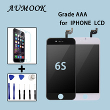 10Pcs/lot 100% AAA No Dead Pixel for IPhone 6S LCD Display Touch Screen 4.7 Digitizer Assembly Replacement Black or White DHL