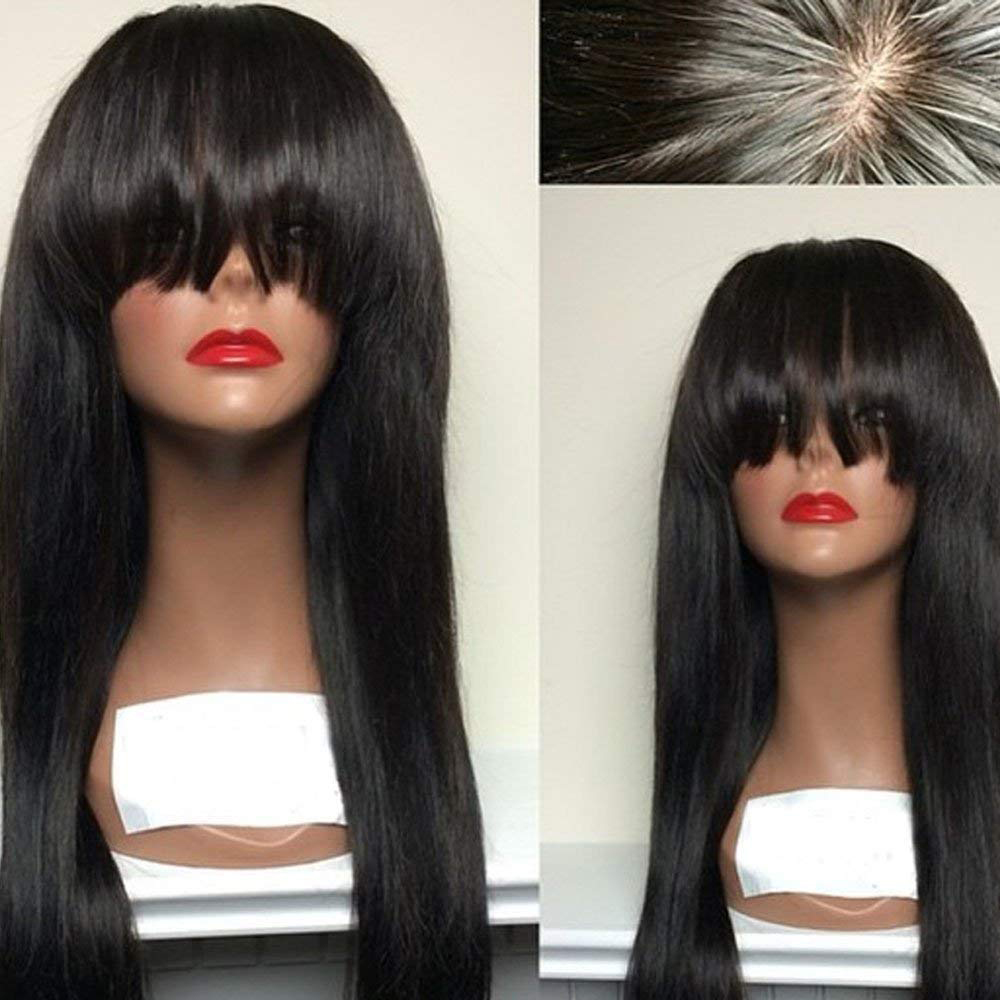 Eversilky Brazilian Wig Lace Front Remy Human Hair Wigs with Bangs For Women Pre Plucked Bleached