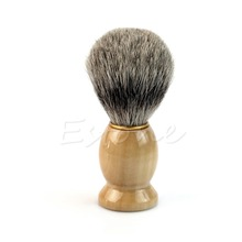 U119 New Men Wood Handle Shaving Brush Badger Hair For Men Father Gift Barber Tool