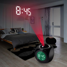 New Fashion Attention Projection Digital Weather LCD Snooze Alarm Clock Projector Color Display LED Backlight Bell Timer