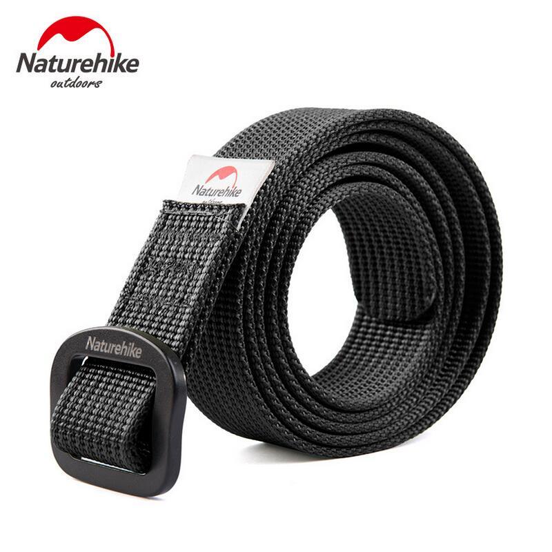 Naturehike Ultralight Nylon Quick tactical belt Men and Women Canvas Belt Trousers Belt in Waist Support from Sports Entertainment