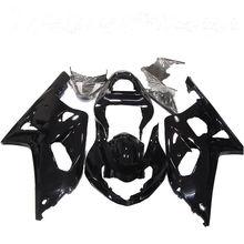 цена на Fast Shipping ABS Plastic injection Glossy Bodywork Black Bodywork Fairing Kit for Suzuki GSX-R600/750 2001-2003 K1 01 03 2002