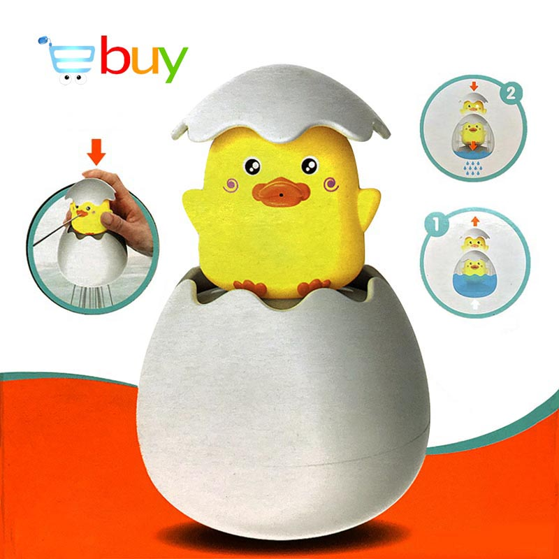 Baby Shower Bath Toys For Children Early Educational Bathtub Bathroom Sprinkling Egg Floating Duck Penguin Spraying Water Toys