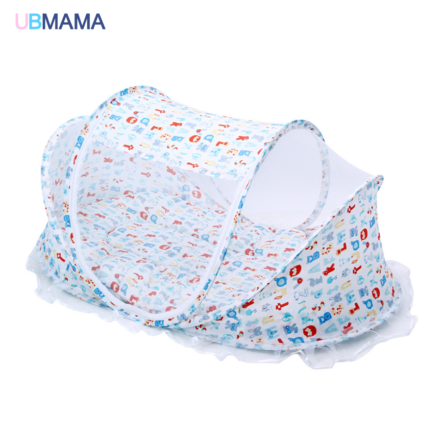 With Netting Anti-dust Detachable Foldable Portable Game Bad  Anti-rollover Comfortable And Convenient Newborns Baby Bed Crib