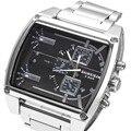 Homens Grande Mostrador do relógio de marca shiweibao Vários fusos horários Relógio Ocasional Relógio Masculino Relógio De Quartzo Importado À Prova D' Água 30 M relogio masculin