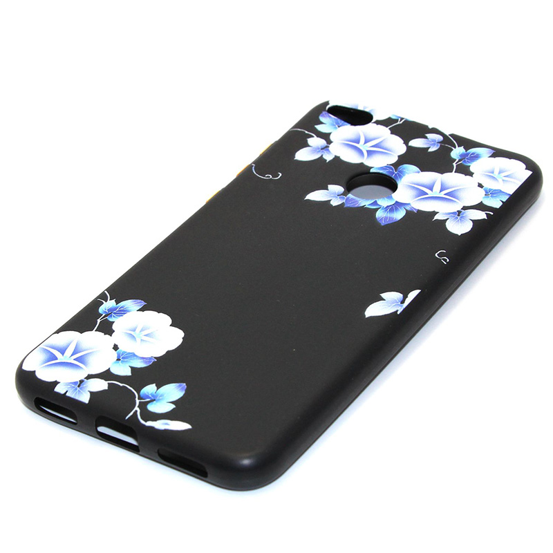 3D Relief flower silicone case huawei p8 lite 2017 honor 8 lite (27)