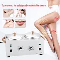 Professional Warmer Wax Heater SPA Hand Epilator Body Feet Hair Remover Paraffin Wax Machine Dual Pot Depilatory Epilator Wax