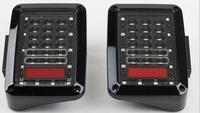 Free Shipping Black LED Tail Lights Brake Rear Signal Reverse Lamp Taillight For JK Wrangler Rubicon