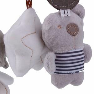 Image 3 - погремушки игрушки для коляски Детская плюшевая погремушка, игрушки на коляску, подвесная кровать, коляска кроватка, Мягкая Милая Музыкальная погремушка с кроликом, развивающие , кровать для новорожденных