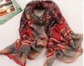 Nueva viscosa bufanda mujeres 2013 del otoño, envío gratis, bufandas estilo de moda, moda geométrica del diseño, estilo bohemio, largo hijab