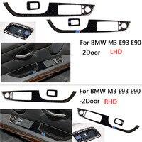 3D Carbon Fiber Window Lift Switch Button Panel Cover Trim Sticker for BMW M3 E93 E90 07 11 Left Hand Drive 2 Door Coupe