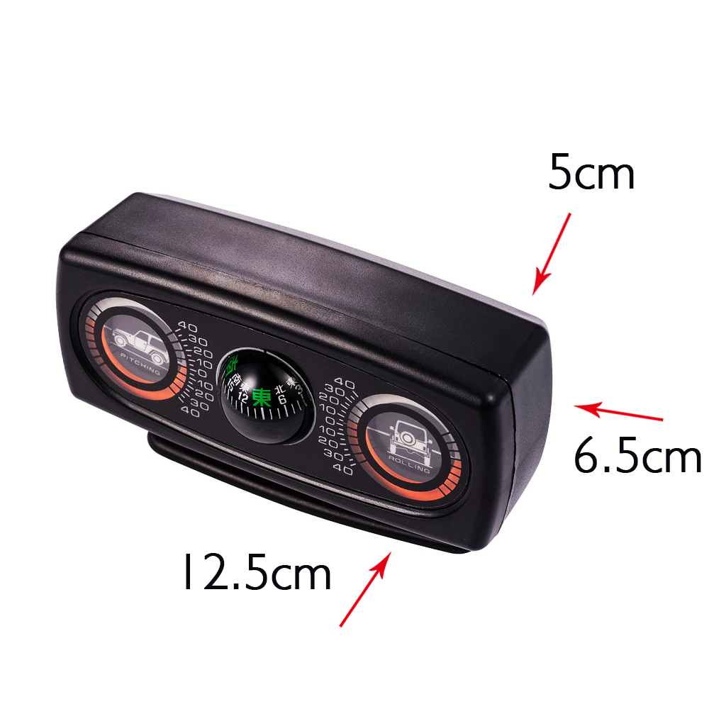 Multifunction Car Compass Inclinometer Angle Slope Level Meter Gradient Balancer Pitching