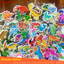 10 sheets/set Dinosaur Stickers 3d cartoon Dinosaur wall stickers for Kids Birthday Gift toy decor stickers
