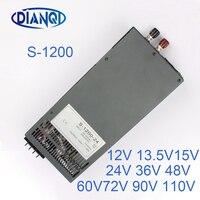 1200W 12V 72V 90V 110V Adjustable Switching Power Supply For LED Strip Light AC To DC