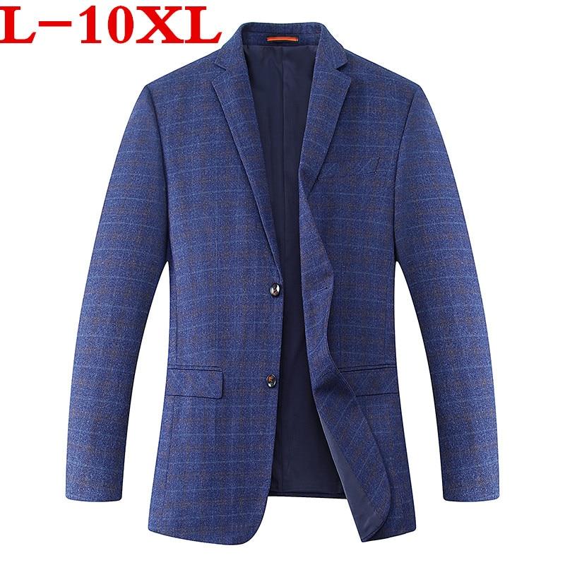 Plus Size 10XL 9xl 8XL 7XL 6XL 2018 New Arrival Autumn And Winter Men's Suit Jacket Fashion Slim Fit Brazer Casual Blazers Men
