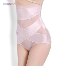 COLORIENTED Thin Mesh Breathable Post-Partum Abdominal Underwear High Waist Body-Building Pants Hip-Lifting Slim Underpant