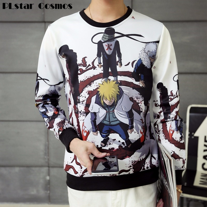PLstar Cosmos anime Naruto sasuke / grim Reaper gedrukt 3D cartoon sweatshirt mannen vrouwen unisex hoodie harajuku sweats jas