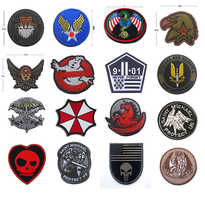 Apparel Sewing & Fabric Outdoor Tactical Emblem 100% Embroidered Five-star Eagle Head Spartan Helmet Cloth With Epaulettes Badge Patches Patch Badges 2019 New Fashion Style Online