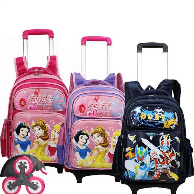 9d2abbc9a New Arrival crianças Lovely primária estudantes Mochila Mochila carrinho  removível para meninos e meninas Mochila Infantil