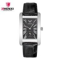 CHENXI Mens Watches Top Brand Luxury Men Elegant Sport Business Rectangle Wristwatch Leather Quartz Watch Relogio
