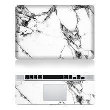 Hot Sale Laptop Front Decal+Keyboard Rest Vinyl Sticker Floral Marble Skin For Macbook Air Pro Retina With Apple Logo Cut Out