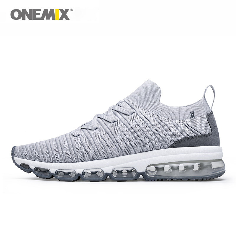ONEMIX Men Running Shoes For Women Breathable Mesh Outdoor Jogging AIR Cushion Sock like Sneakers Max